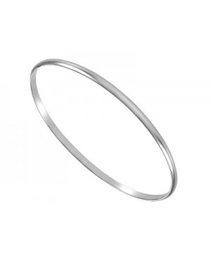 Silver Polished Stacker Bangle