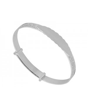 Silver Embossed Bangle with...