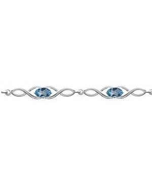 Silver & Topaz Bracelet