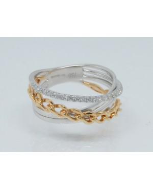 18ct Rose & White Gold &...