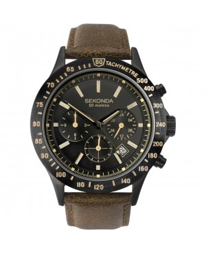 Sekonda Black Strap Watch
