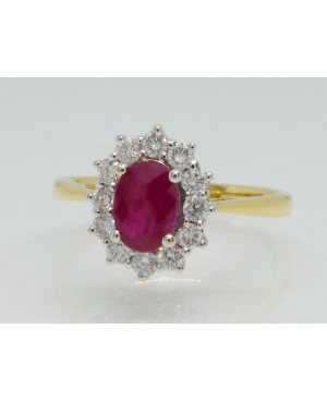 18ct Yellow Gold Ruby &...