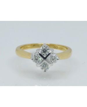 18ct Yelow Gold & Diamond 4...