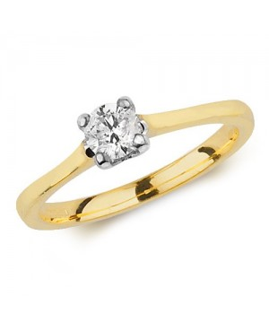 9ct Yellow Gold & Diamond 4...