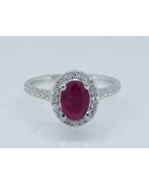 18ct White Gold Ruby &...