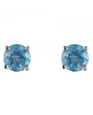 Silver & Topaz 3mm Stud Earrings
