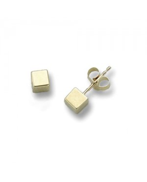 9ct Yellow Gold Cube Stud...