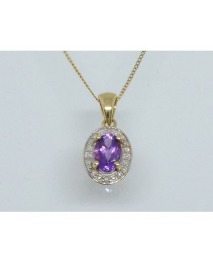 9ct Yellow Gold Amethyst &...