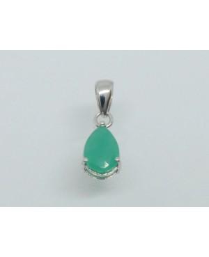 9ct White Gold & Emerald...