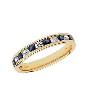 9ct Yellow Gold Sapphire &...