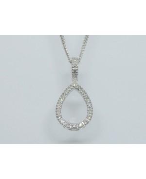 9ct White Gold & Diamond...