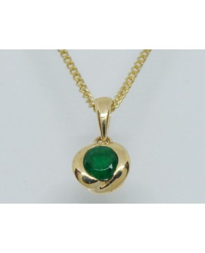 9ct Yellow Gold & Emerald...