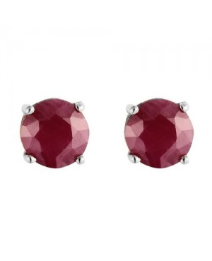 9ct White Gold & Ruby Stud...