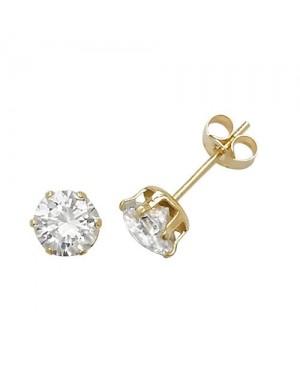 Gold & Cubic Zirconia Earrings