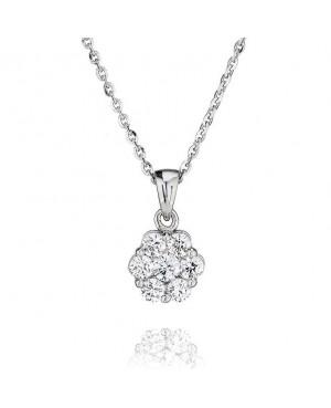 9ct White Gold & Diamond 7...