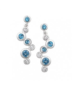 Silver Topaz Cubic Zirconia Earrings