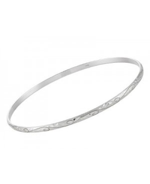 Silver 3mm Bangle with...