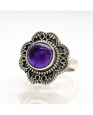 Silver & Amethyst Ring