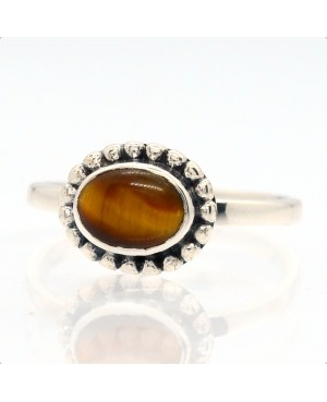 Silver Tigers Eye Solitaire