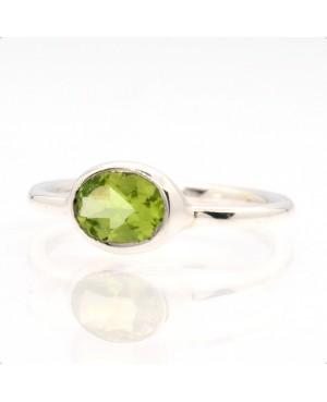Silver & Peridot Ring