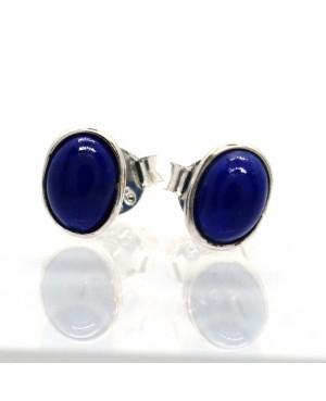 Silver & Lapis Lazuli Stud...