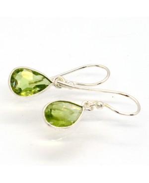 Silver & Peridot Drop Earrings