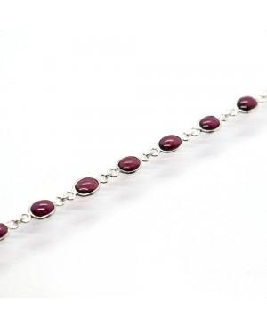 Silver & Garnet Bracelet