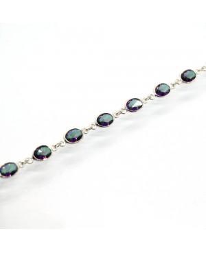 Silver & Mystic Topaz Bracelet