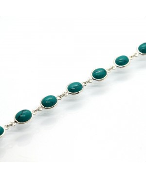 Silver & Reconstituted Turquoise Bracelet