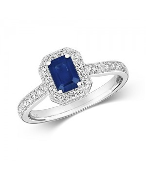 9ct White Gold Sapphire &...
