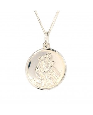 Silver St Christopher 7mm
