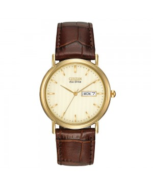 Men's Citizen Eco-Drive Gold Plated Stainless Steel...