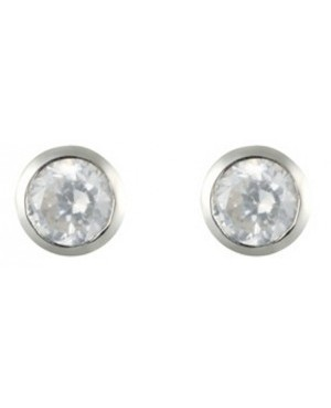 Silver & Cubic Zirconia 3mm...