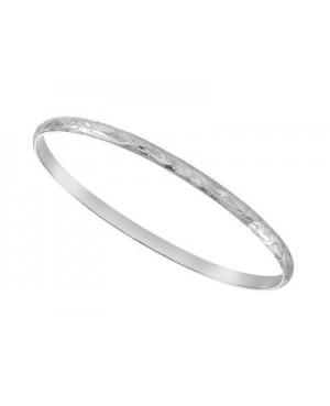 Silver Engraved Stacker Bangle