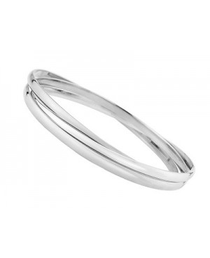 Silver Russian Style Bangle 4mm