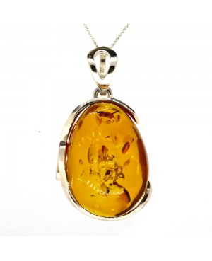 Sterling Silver & Amber...