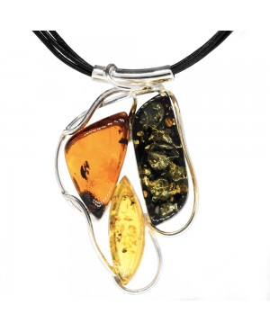 Sterling Silver & Amber 3...