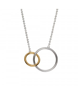 Silver & Gold Plated Circle...