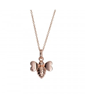 """Rose Gold Plated Bee Pendant with 16""""/18"""" Chain"""