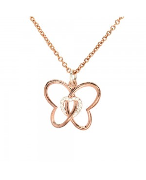 Rose Gold Plated Sterling...