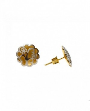 9ct White & Yellow Gold Earrings