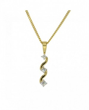 9ct Yellow Gold Diamond Pendant 0.15ct
