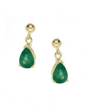 9ct Gold & Emerald Earrings