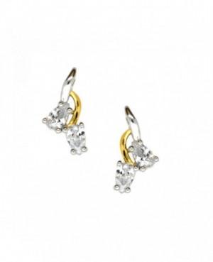 Silver & C.Z. Stud Earrings