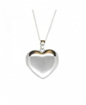 Silver Heart Locket & Chain