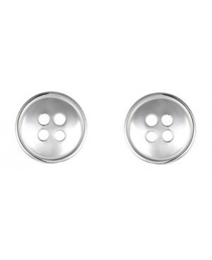 Silver Button Shape Stud...