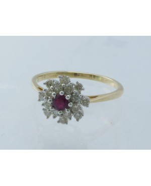 9ct Yellow Gold Ruby &...