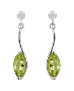 Silver & Peridot Drop Earrings