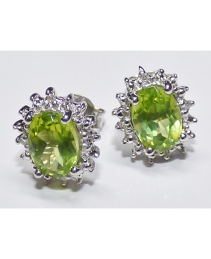 Silver, Peridot & Diamond...