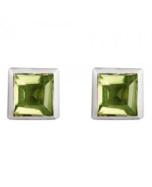 Silver & Peridot Stud Earrings